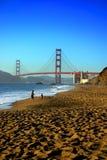 贝克海滩,旧金山 免版税库存照片