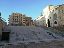 贝内文托- Arco del萨加门多考古学地区 免版税库存图片