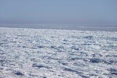 贝加尔湖冰漂泊 33c 1月横向俄国温度ural冬天 库存图片