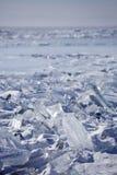 贝加尔湖冰drifte 33c 1月横向俄国温度ural冬天 库存照片