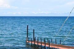 贝加尔湖夏天空气  免版税库存照片