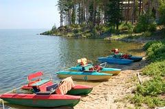 贝加尔湖房子手段 库存照片