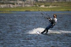 贝加尔湖房客风筝湖俄国西伯利亚 免版税库存照片