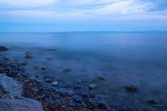 贝加尔湖晚上 库存照片
