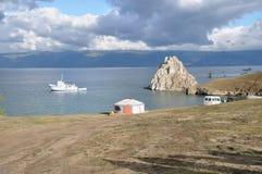 贝加尔湖海岛olhon 免版税库存照片