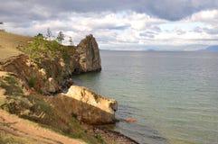 贝加尔湖海岛olhon 库存图片