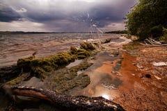 贝加尔湖海岸线  库存图片