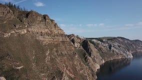 贝加尔湖湖 贝加尔湖海岛湖olkhon俄国 航测 风景湖雪原山在夏天 晴朗的日 股票视频
