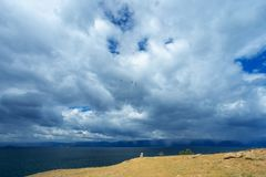 贝加尔湖的Olkhon海岛在夏天 免版税库存图片