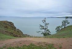贝加尔湖看法  免版税库存图片