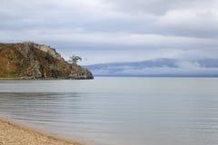 贝加尔湖看法  免版税图库摄影