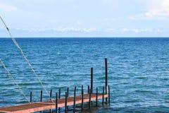 贝加尔湖,俄罗斯夏天空气  库存图片