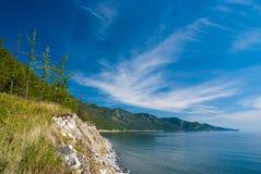 贝加尔湖cloudscape 免版税库存照片