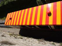 贝加莫意大利 红色缆索铁路在老城贝加莫 免版税图库摄影