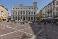 贝加莫,伦巴第,意大利老正方形 免版税库存照片