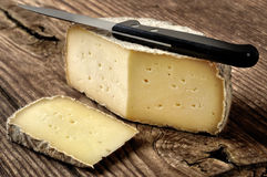 贝加莫,意大利典型的软干酪  免版税库存照片