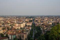 贝加莫,意大利 库存图片