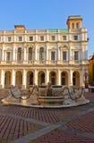 贝加莫contarini喷泉意大利 免版税库存图片