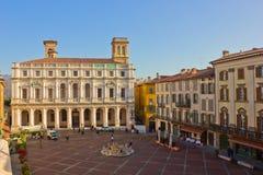 贝加莫del意大利palazzo podesta 库存照片