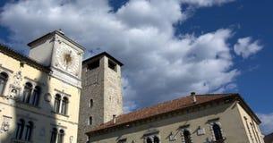 贝卢诺城镇厅的时钟 免版税库存图片