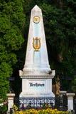 贝多芬墓地中央严重维也纳 免版税库存图片
