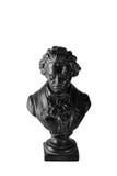 贝多芬小雕象白色 库存照片