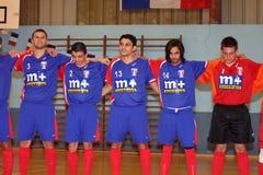 贝尔吉克法国友好futsal符合与 库存图片