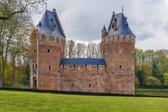 贝尔塞尔城堡,比利时 库存图片