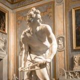 贝尔尼尼雕象:大卫 免版税库存照片