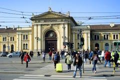 贝尔格莱德中央火车站 库存照片