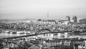 贝尔格莱德全景灰色极谱的 库存照片