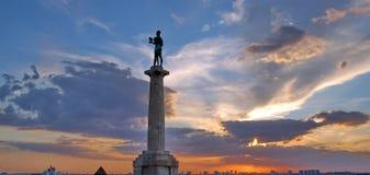 贝尔格莱德堡垒kalemegdan纪念碑赢利地区 库存照片