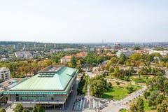 贝尔格莱德,塞尔维亚11/09/2017 :贝尔格莱德国立图书馆  免版税库存图片