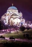 贝尔格莱德sava塞尔维亚st寺庙 免版税库存照片