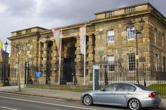 贝尔法斯特北爱尔兰现在使用的历史的克拉姆林路监狱,一个现代博物馆和访客集中 免版税库存图片