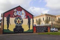 贝尔法斯特北爱尔兰街艺术墙壁壁画在Shankhill和克拉姆林路的锤子地区 免版税库存图片