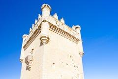 贝尔蒙特德坎波斯,卡斯蒂利亚-莱昂,西班牙城堡  库存图片