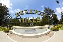 贝弗利喷泉小山停放符号 图库摄影