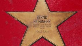 贝恩德艾兴格,名望步行星大道der星的在柏林 股票录像