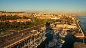 贝拉母区在里斯本 免版税库存照片