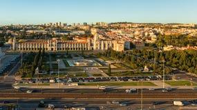贝拉母区在里斯本 免版税图库摄影