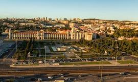 贝拉母区在里斯本 免版税库存图片