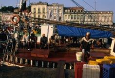 贝拉母巴西市场o比索ver 免版税库存照片