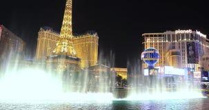 贝拉焦喷泉在晚上与 影视素材