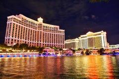贝拉焦旅馆和赌博娱乐场在拉斯维加斯 免版税库存图片