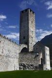 贝林佐纳castelgrande城堡 库存照片