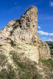 贝洛拉多老城堡废墟,布尔戈斯,卡斯蒂利亚y利昂,西班牙 图库摄影