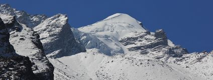贝登・鲍威尔锐化, Langtang Himal,尼泊尔的山 库存图片