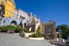 贝纳全国宫殿在辛特拉,葡萄牙帕拉西奥Nacional da贝纳 库存照片