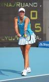 贝耳球员职业网球wickmayer yanina 免版税库存照片